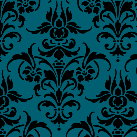 Nikole Damask fabric by peacoquettedesigns on Spoonflower - custom fabric
