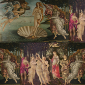 Botticelli Birth of Venus and Primavera Large Horizontal