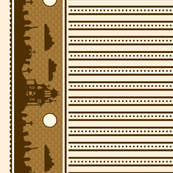 Graveyard Dot-Striped Border in Brown on Cream