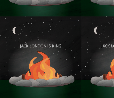 Jack London Is King fabric by wildnotions on Spoonflower - custom fabric