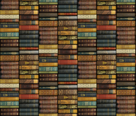 Monsieur Fancypantaloons' Instant Library ~ Small ~ Border Print fabric by peacoquettedesigns on Spoonflower - custom fabric