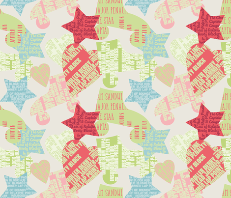 Do You Speak Roller Derby? - 2 light fabric by owlandchickadee on Spoonflower - custom fabric