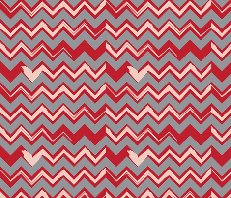 Bacon Chevron fabric by owlandchickadee on Spoonflower - custom fabric