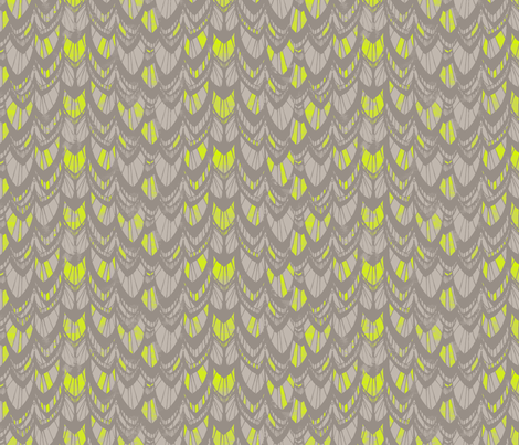 GEO feather tail fabric by pattern_state on Spoonflower - custom fabric
