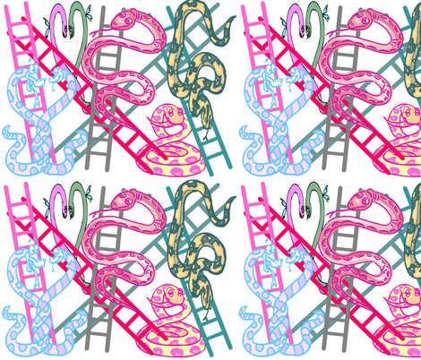 SNAKES N LADDERS fabric by bluevelvet on Spoonflower - custom fabric