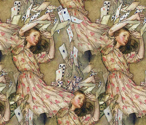 Alice Gets Decked fabric by peacoquettedesigns on Spoonflower - custom fabric