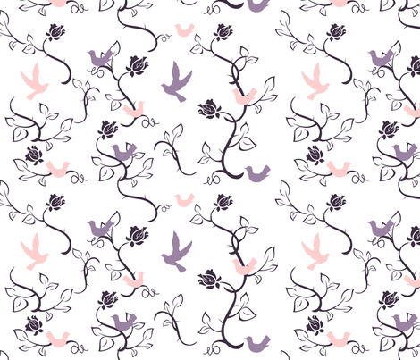 love_birds fabric by jbhorsewriter7 on Spoonflower - custom fabric