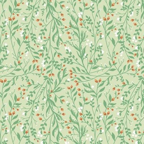 Regency Floral in Sage and Pumpkin