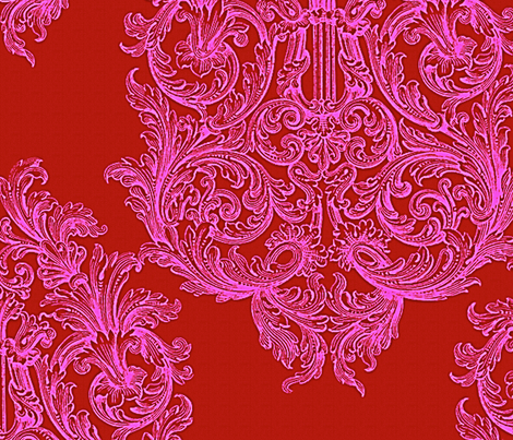 Eleanor Lavish Damask fabric by peacoquettedesigns on Spoonflower - custom fabric