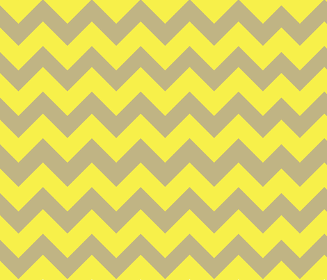 Yellow Taupe Large Chevron