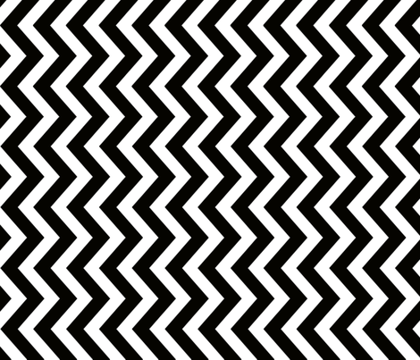 JUNE-2012-Chevron-Black-6400px fabric by tillytom on Spoonflower - custom fabric