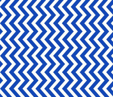 tillytom chevron - royal blue fabric by tillytom on Spoonflower - custom fabric