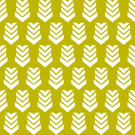 Chevron Arrow Corn fabric by thistleandfox on Spoonflower - custom fabric