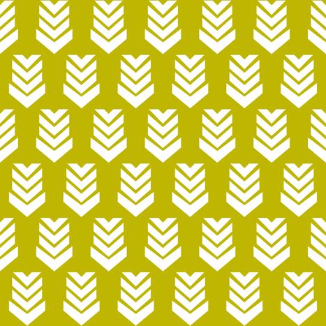 Chevron Arrow Corn fabric by thistleandfox on Spoonflower - custom fabric