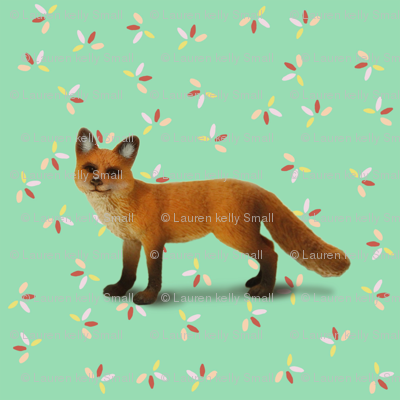 Fox on Green with Sprinkles