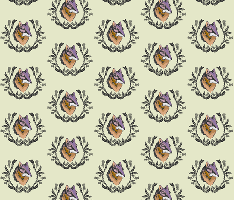 Thistle and Fox Spring Emblem fabric by thistleandfox on Spoonflower - custom fabric