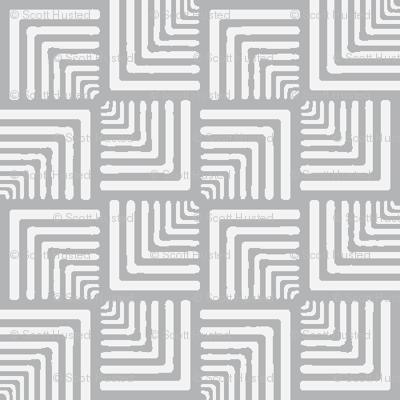 Modern Check grey