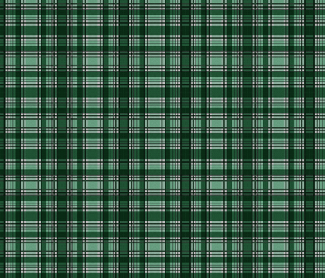 Green Lumberjack fabric by glanoramay on Spoonflower - custom fabric