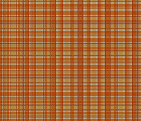 Orange Lumberjack fabric by glanoramay on Spoonflower - custom fabric
