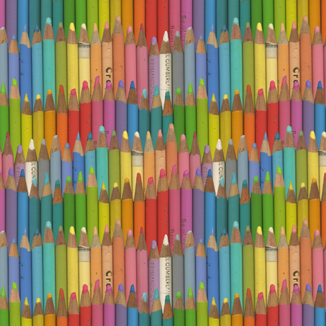 colored pencils - pastel fabric by weavingmajor on Spoonflower - custom fabric
