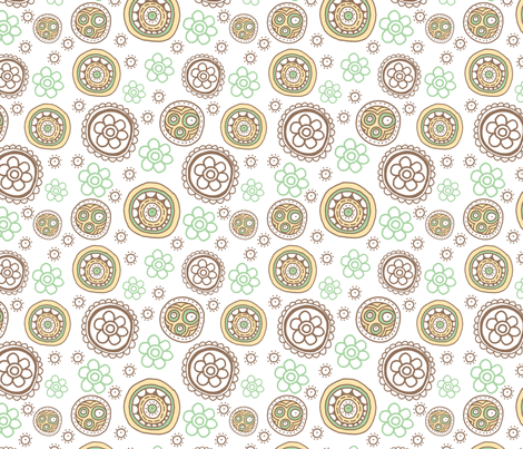 Sunday Garden Neutral fabric by tailorjane on Spoonflower - custom fabric