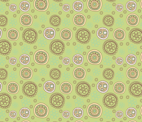 Sunday Garden Moss fabric by tailorjane on Spoonflower - custom fabric