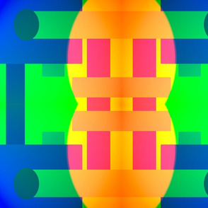 abstract rectangles and circles in multi colors