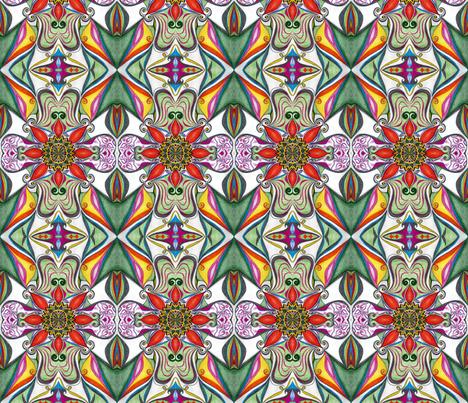 Fabric_Flowers fabric by yezarck on Spoonflower - custom fabric