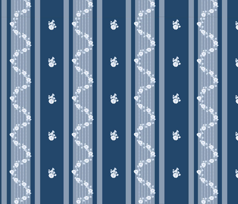 Georgian_blue_on_blue fabric by recreating_history on Spoonflower - custom fabric