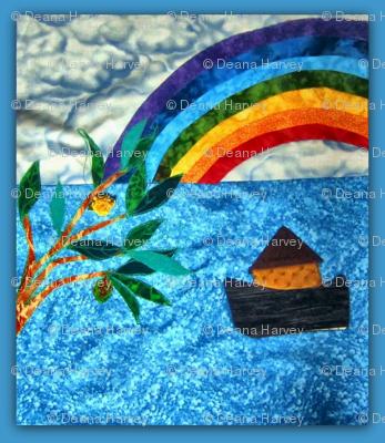 Noah Rainbow Pieced Olive Branch Frame_Swatch