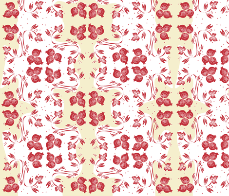 pomegranates chintz fabric by csl on Spoonflower - custom fabric