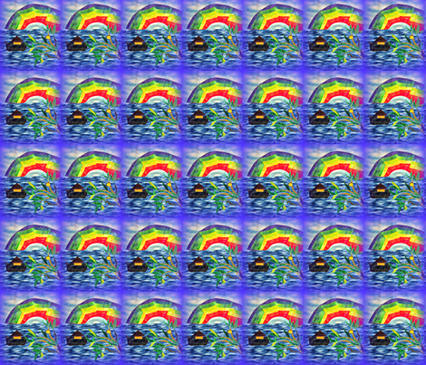 Noah_Rainbow Fractal_Olive_Branch_Swatch fabric by tree_of_life on Spoonflower - custom fabric