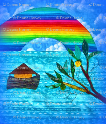 Noah Rainbow 1 piece Olive Branch_Swatch