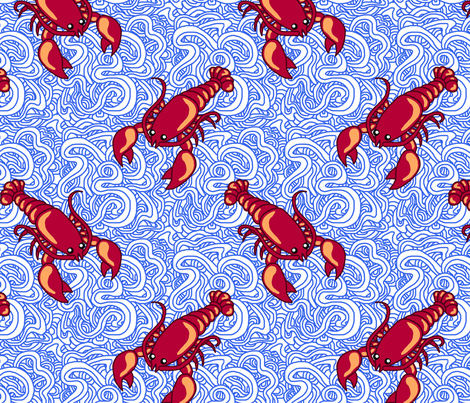 Weird Lobsters fabric by leighr on Spoonflower - custom fabric