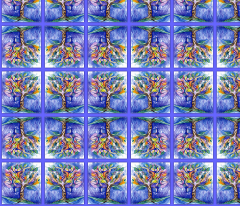Tree of Life Watercolor Framed_Swatch fabric by tree_of_life on Spoonflower - custom fabric