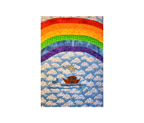 Rainbow Baby_Rainbow_Whole Cloth fabric by tree_of_life on Spoonflower - custom fabric
