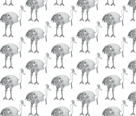 EXTINCT grand fabric by marie-emilienne on Spoonflower - custom fabric