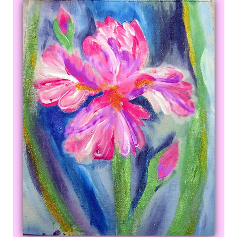 Iris Pink Fabric Painting_Swatch