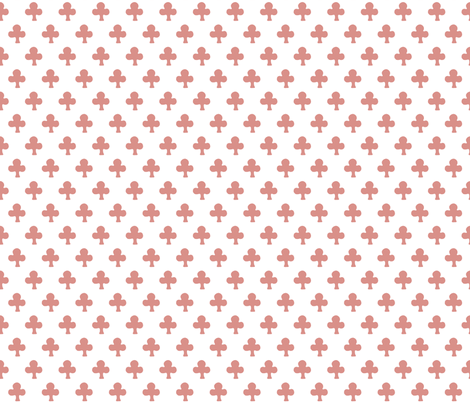 Indian Clover in rosewood fabric by domesticate on Spoonflower - custom fabric