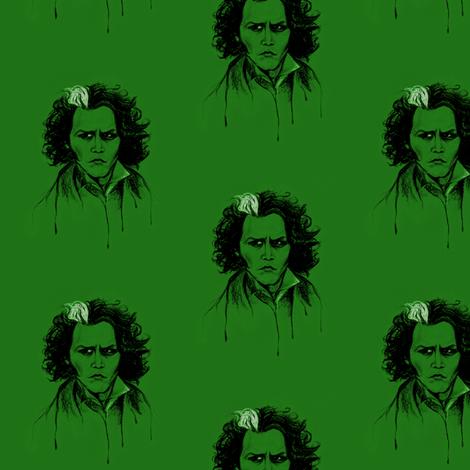 Sweeney in Green fabric by kaedralynn on Spoonflower - custom fabric