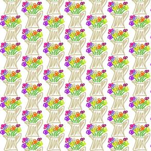 fresh cut flowers! (purple, red, orange, yellow
