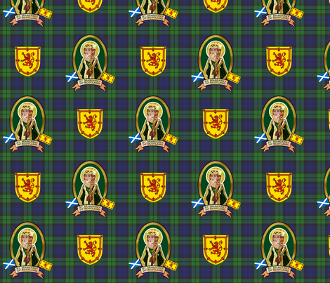 Saint Margaret, Queen of Scotland fabric by magneticcatholic on Spoonflower - custom fabric