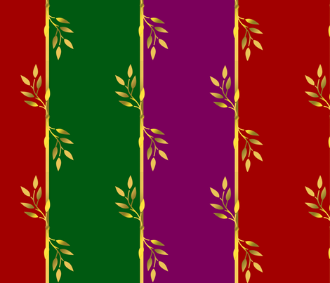 Red, Green, Gold, and Violet Stripes fabric by kaedralynn on Spoonflower - custom fabric