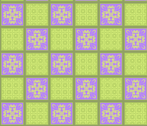 Lavender&green2 fabric by pat_sy on Spoonflower - custom fabric