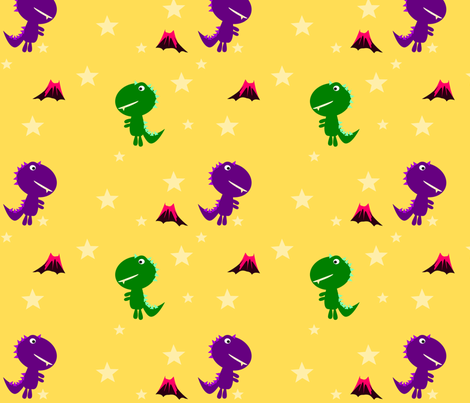Cute Dino Stars fabric by heathermann on Spoonflower - custom fabric
