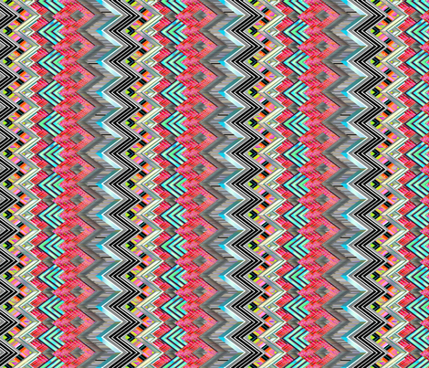 Zig Zag Shiver fabric by joanmclemore on Spoonflower - custom fabric