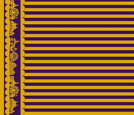Jewel Carnival Border with Stripes in Plum fabric by charmcitycurios on Spoonflower - custom fabric