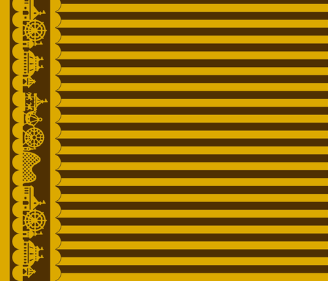 Jewel Carnival Border with Stripes in Espresso fabric by charmcitycurios on Spoonflower - custom fabric