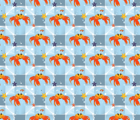 Crab fabric by alfabesi on Spoonflower - custom fabric