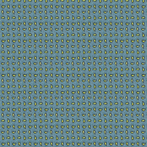 Cadet Blue with Yellow Paisleys fabric by the_cornish_crone on Spoonflower - custom fabric